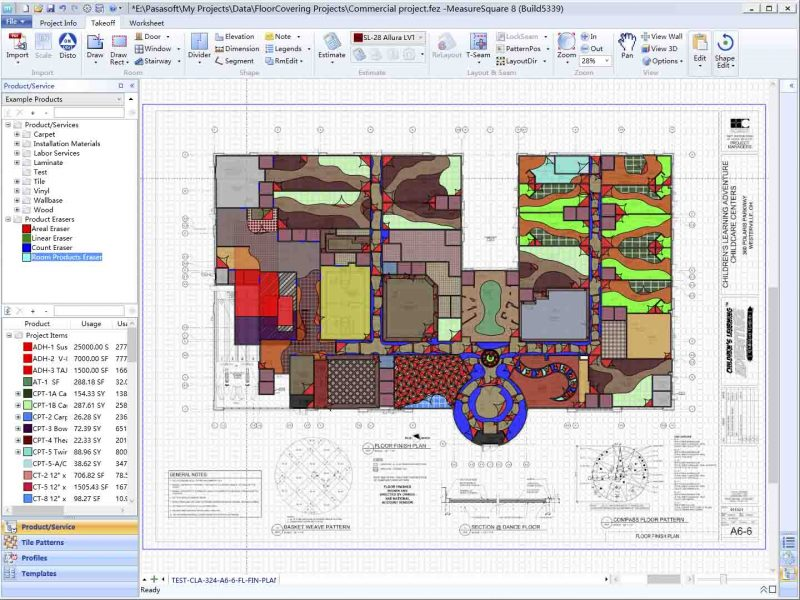 commercial flooring takeoff estimating