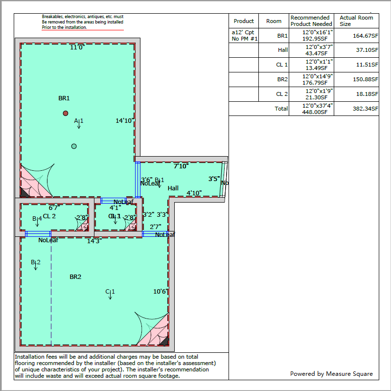 Measure Flooring With Correct Information Disclosure, a $2MM Lesson Learned